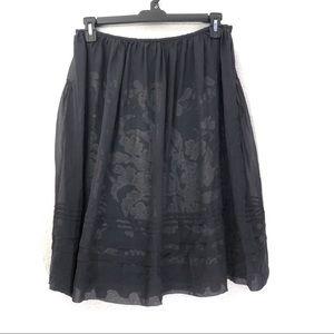 Armand Ventilo Silk Overlay A-Line Swing Skirt